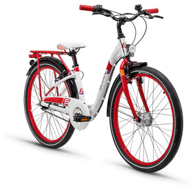 s'cool chiX 24 7-S Juniorcykel Barn alloy röd/vit